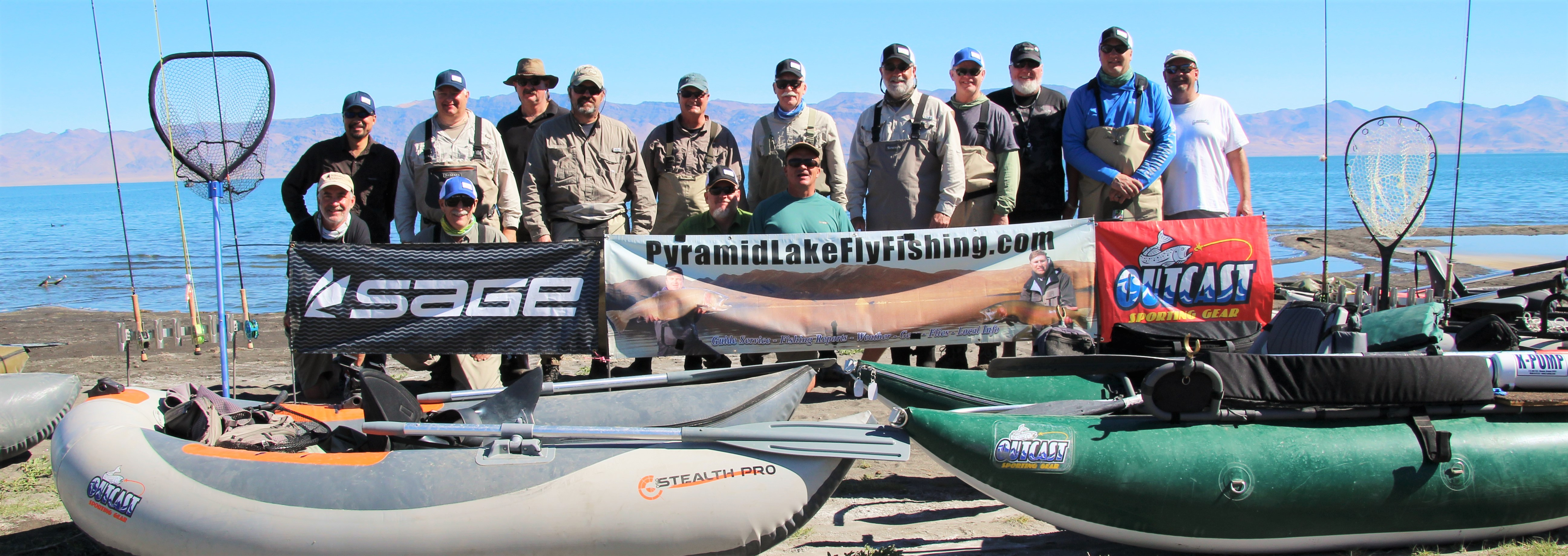Float tube clinic pyramid lake fly fishing for Float tubes for fishing